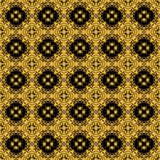 seamless arabesque black and gold pattern Stock Photography