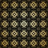 Seamless arabesque black and gold pattern Stock Photo