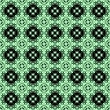 Seamless arabesque pattern black and green Stock Photography