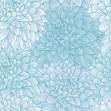 Beautiful seamless background with blue dahlia. Stock Image