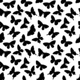 Beautiful seamless background with butterflies silhouettes. Royalty Free Stock Images