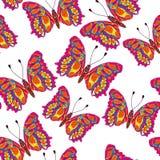 Beautiful seamless background of butterflies, vector illustratio Stock Photo