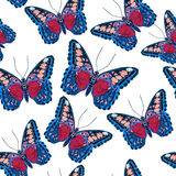 Beautiful seamless background of butterflies, vector illustratio Royalty Free Stock Photos
