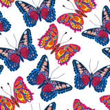 Beautiful seamless background of butterflies, vector illustratio Royalty Free Stock Image