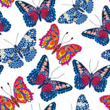 Beautiful seamless background of butterflies Royalty Free Stock Images