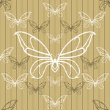 Beautiful seamless background with butterflies Royalty Free Stock Photography