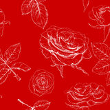 Beautiful seamless background with flowers. Royalty Free Stock Photo