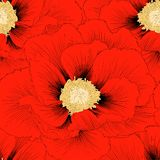 Beautiful seamless background with flowers. Stock Images