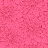 Beautiful seamless background with flowers. Hand-drawn contour lines and strokes. Perfect for background greeting cards and invita Stock Photography