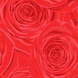Beautiful seamless background with red roses. Stock Photography