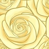 Beautiful seamless background with yellow roses. Stock Photography