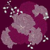 Beautiful Seamless color peony pattern Stock Image