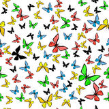 Colorful butterfly seamless pattern Royalty Free Stock Image