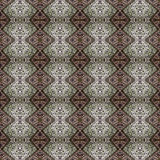 Beautiful seamless eastern carpet decoration pattern, abstract ornament of round and square or rhombus elements. The texture backg Stock Photos