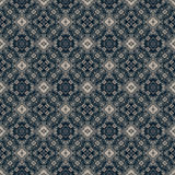 Beautiful seamless eastern carpet decoration pattern, abstract ornament of round and square or rhombus elements. The texture backg Stock Images