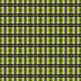 Beautiful seamless eastern carpet decoration pattern, abstract ornament of round and square or rhombus elements. The texture backg Stock Photo