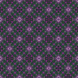 Beautiful seamless eastern carpet decoration pattern, abstract ornament of round and square or rhombus elements. The texture backg Royalty Free Stock Photos