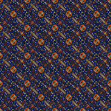 Beautiful seamless eastern carpet decoration pattern, abstract ornament of round and square or rhombus elements. The texture backg Stock Photography