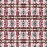Beautiful seamless eastern carpet decoration pattern, abstract ornament of round and square or rhombus elements. The texture backg Royalty Free Stock Photography
