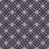 Beautiful seamless eastern carpet decoration pattern, abstract ornament of round and square or rhombus elements. The texture backg Royalty Free Stock Photo