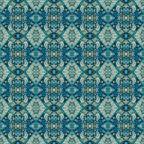 Beautiful seamless eastern carpet decoration pattern, abstract ornament of round and square or rhombus elements. The texture backg Stock Image