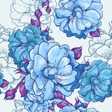 Beautiful Seamless Floral Background Stock Photo