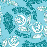 Beautiful seamless floral pattern. Seamless floral pattern,  roses on floral background Stock Photos