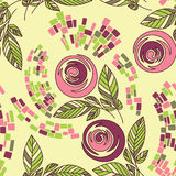 Beautiful seamless floral pattern. Seamless floral pattern,  roses on floral background Royalty Free Stock Photo