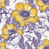Beautiful seamless floral pattern Stock Images