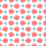 Beautiful seamless floral pattern, flower  illustration Royalty Free Stock Photography
