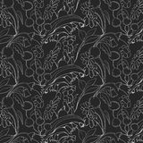 Beautiful seamless floral pattern. Flower vector background.  Royalty Free Stock Photography