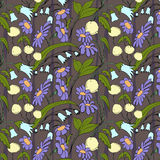 Beautiful seamless floral pattern. Flower vector background.  Stock Images