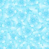 Beautiful seamless floral pattern . Flower vector illustration. Field of flowers.  Royalty Free Stock Images