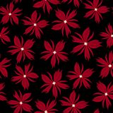 Beautiful seamless floral pattern . Flower vector illustration. Field of flowers.  Stock Images