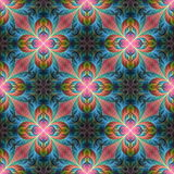 Beautiful seamless flower pattern in fractal design. Artwork for Royalty Free Stock Photos