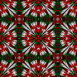 Beautiful seamless flower pattern in stained-glass window style. Stock Photography