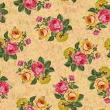 Beautiful seamless flower pattern texture background royalty free illustration
