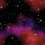 Beautiful seamless galaxy texture, great night sky stock illustration