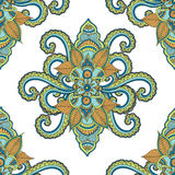 Beautiful seamless Indian floral ornament can be used as a greeting card Royalty Free Stock Photos