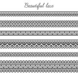 Beautiful seamless lace segments for scrapbooking, card decoration etc Royalty Free Stock Photo