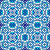 Beautiful seamless ornamental tile background. Vector illustration. Stock Image