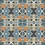 Beautiful seamless ornamental tile background vector illustration Stock Photography