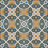 Beautiful seamless ornamental tile background vector illustration. Beautiful seamless ornamental tile background Royalty Free Stock Photos