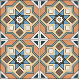 Beautiful seamless ornamental tile background vector illustration Stock Photos