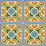Beautiful seamless ornamental tile background vector illustration Royalty Free Stock Photography