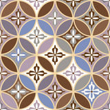 Beautiful seamless ornamental tile background vector illustration Royalty Free Stock Photos