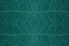 Beautiful seamless pattern with abstract blue  art Stock Photography