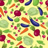 seamless pattern of bright vegetables Royalty Free Stock Photos