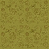 Beautiful seamless pattern with brown rose Royalty Free Stock Images