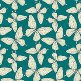 Beautiful seamless pattern. butterflies vintage color. Stock Photography